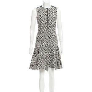 AKRIS PUNTO Fit & Flare Zip Front Sleeveless Dress